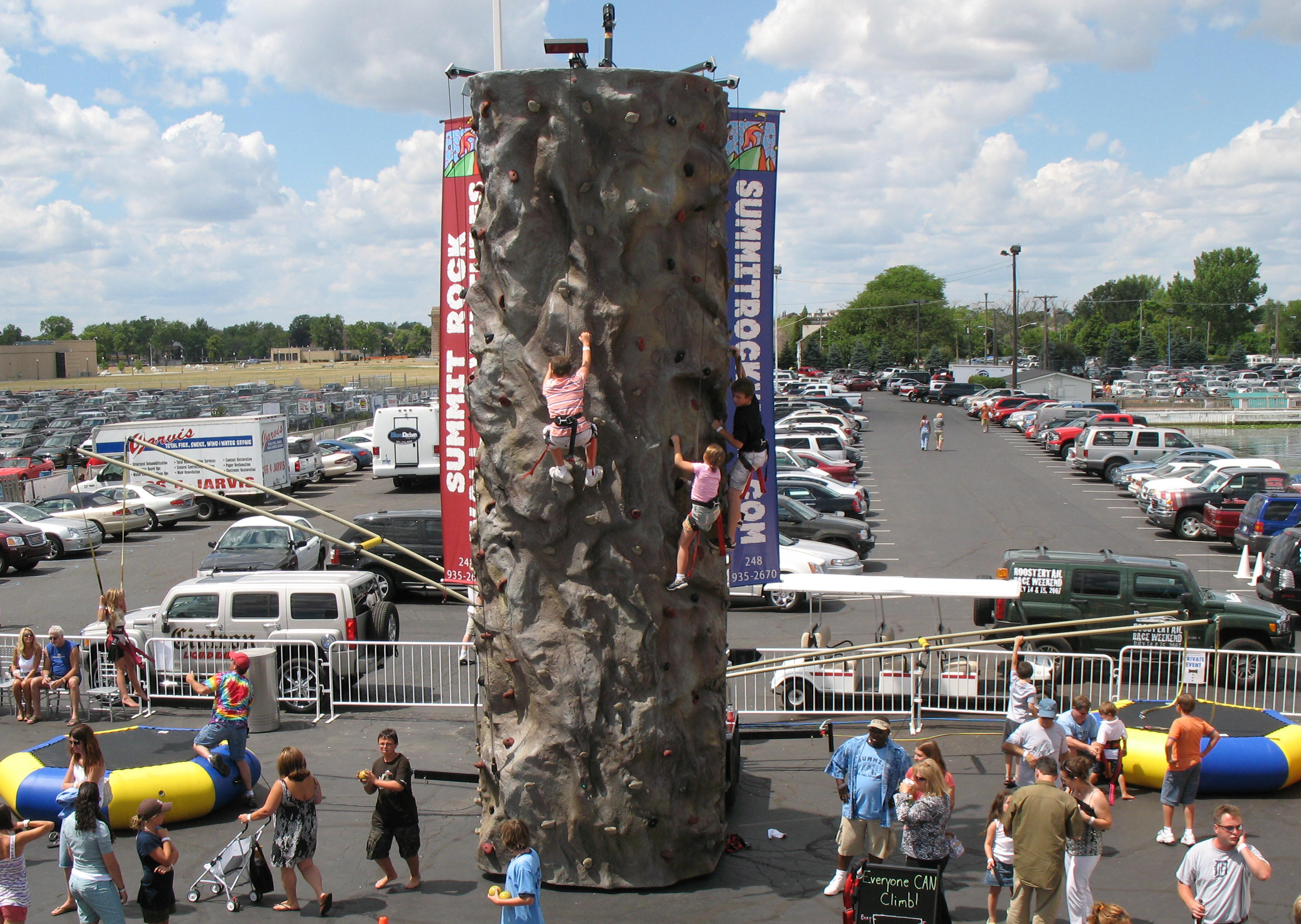 portable rock wall